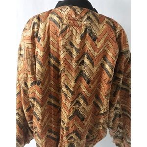 Casual Corner Jackets & Coats - Orange & Black Vintage Jacket Size Large